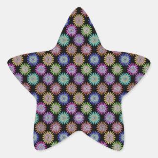 U pick Color/ Hand Blown Glass Crystal Flowers Star Sticker