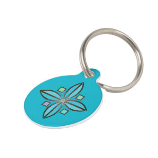 U-pick Color/ Iron Celtic Good Fortune Flower Pet Tag