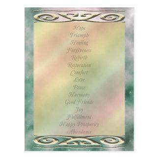 U pick Color/ Life Changing Words of Meditation Postcard