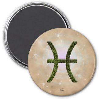 U Pick Color/ Pisces Zodiac Sign 7.5 Cm Round Magnet