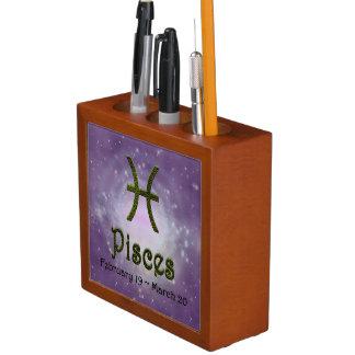 U Pick Color/ Pisces Zodiac Sign Pencil/Pen Holder