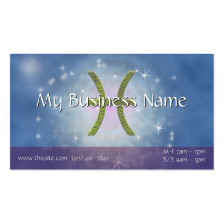 U Pick Color/ Pisces Zodiac Sign Personalize Pack Of Standard Business Cards