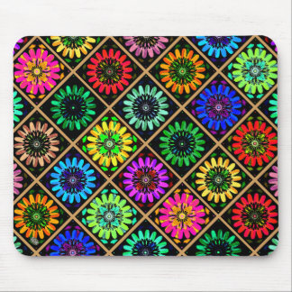 U Pick Color/ Radiant Scrapbook Flowers on Display Mouse Pad