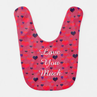U Pick Color/ Valentine's Day  Fluttering Hearts Baby Bibs