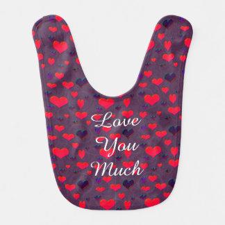 U Pick Color/ Valentine's Day Fluttering Hearts Bib