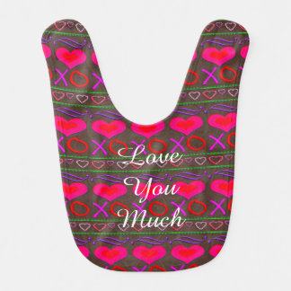 U Pick Color/ Valentine's Day Hugs and Kisses Bib