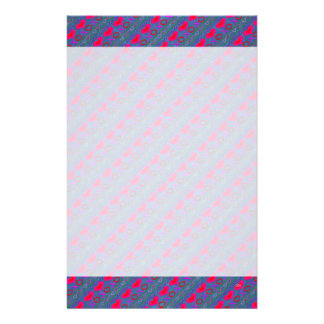 U Pick Color/ Valentine's Day Hugs and Kisses Customized Stationery