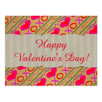 U Pick Color/ Valentine's Day Hugs and Kisses Postcard
