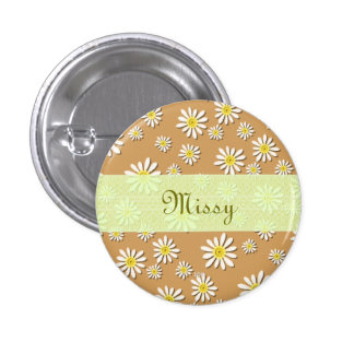U-pick Color/ Whimsical Wildflower Daisy Sprinkles 3 Cm Round Badge