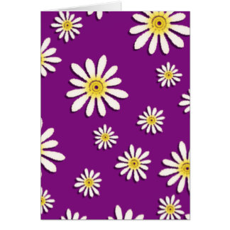 U-pick Color/ Whimsical Wildflower Daisy Sprinkles Greeting Card