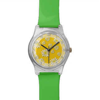 U-pick Color/ Whimsical Wildflower Daisy Sprinkles Watch