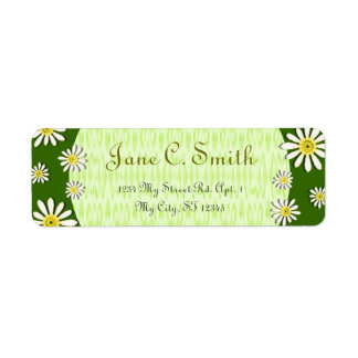 U-pick Color/ Whimsical Wildflower Daisy Sprinkles Return Address Label