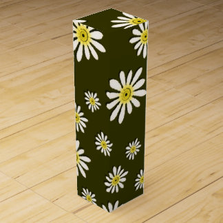 U-pick Color/ Whimsical Wildflower Daisy Sprinkles Wine Bottle Boxes