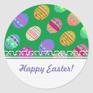 U-pick Colour/ Bedazzled Easter Eggs w/ Classic Round Sticker