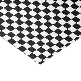 U-pick Colour Black Chequered Tiles Tissue Paper