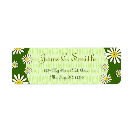 U-pick Colour/ Whimsical Wildflower Daisy Return Address Label