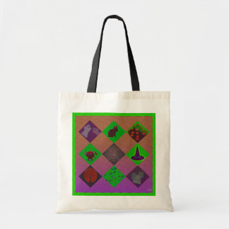 U Pick Gradient Halloween Trick or Treat for Candy Canvas Bags