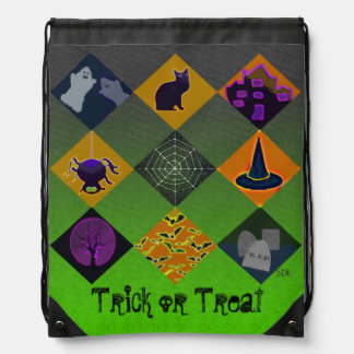 U Pick Gradient/Halloween Trick or Treat for Candy Drawstring Backpack