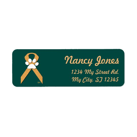 U-pick the Colour/Animal Cruelty Prevention Ribbon Return Address Label