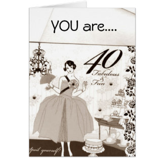 U R 40 AND FABULOUS CARD