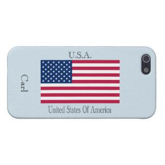 U.S.A.  flag iPhone 5/5S Case