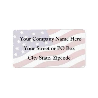 U.S.A. Flag Label