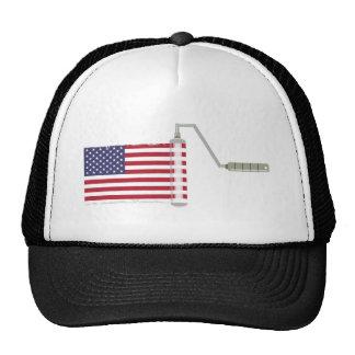 U.S.A. Flag Paint Roller Cap
