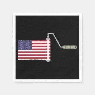 U.S.A. Flag Paint Roller Disposable Serviette