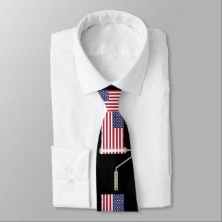 U.S.A. Flag Paint Roller Tie