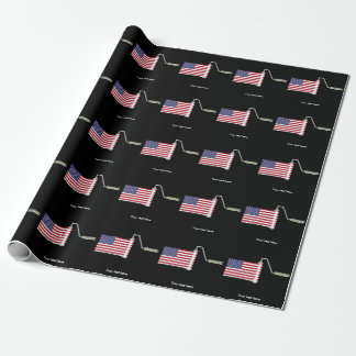 U.S.A. Flag Paint Roller Wrapping Paper
