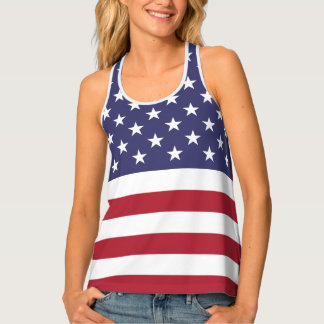 U.S.A. Flag Patriotic 4th Of July All-Over Print Singlet