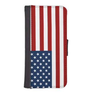 u.s.a. flag patriotic iPhone SE/5/5s wallet case