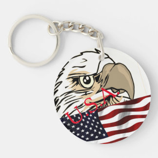 U.S.A. Flag, Stars And Stripes, Eagle Key Chain