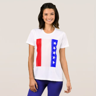 U.S.A. Flag with Stars Sports Top Julie Everhart