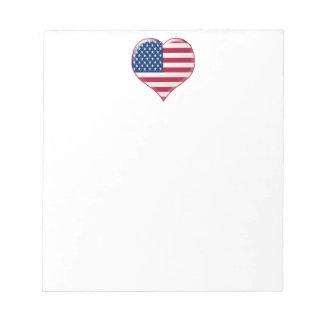 U.S.A. Heart Charm Notepad
