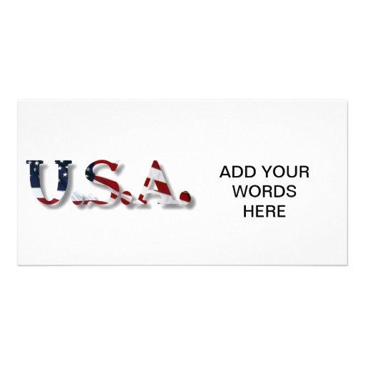 U.S.A. PICTURE CARD