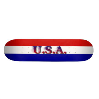 U.S.A. Red White Blue Skateboard Decks
