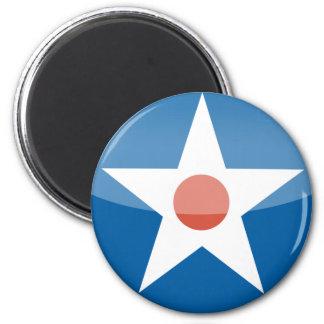 U.S.A.  Retro 6 Cm Round Magnet
