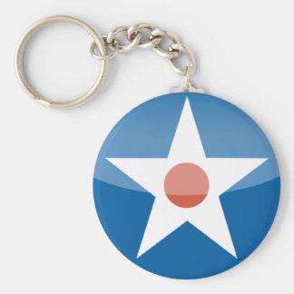 U.S.A.  Retro Key Ring