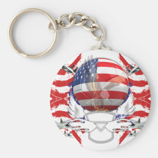 U.S.A. Soccer Key Ring