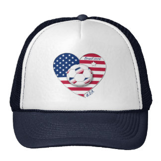 """""""U.S.A."""" Soccer Team Soccer of the United States 2 Hats"""