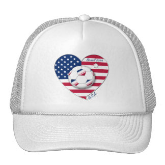 """U.S.A."" Soccer Team Soccer of the United States 2 Hat"