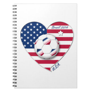"""U.S.A."" Soccer Team Soccer of the United States 2 Spiral Notebooks"