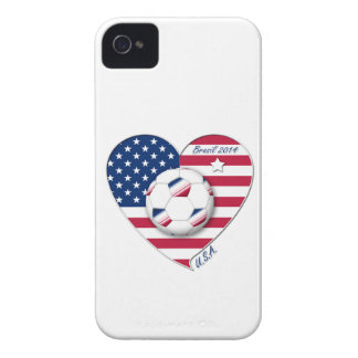 """U.S.A."" Soccer Team. Soccer of the United States iPhone 4 Case-Mate Case"