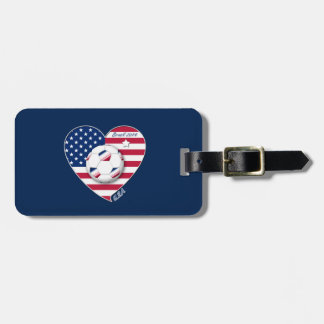 U.S.A. Soccer Team.  Soccer the United States 2014 Tags For Bags