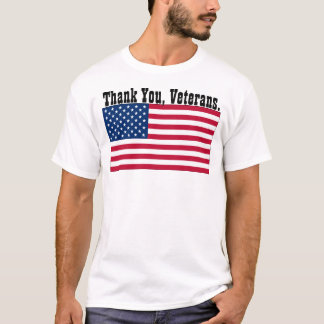 "U.S.A. - ""Thank You, Veterans."" T-Shirt"