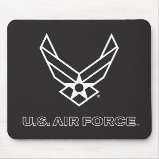 U.S. Air Force Logo - Black Mouse Pad