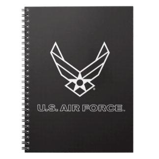 U.S. Air Force Logo - Black Note Book