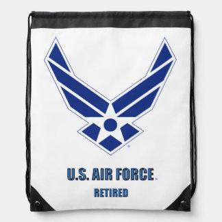 U.S. Air Force Retired Drawstring Backpack