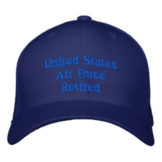 U.S.AIR FORCE RETIRED EMBROIDERED BASEBALL CAPS